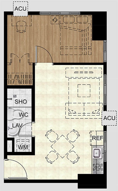 the spectrum pasig condo 1 bedroom unit