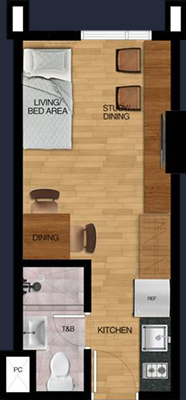 vista heights manila student condo 1 bunk bed 21 sqm