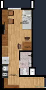 vista heights manila student condo 29.59 sqm