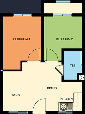 cerritos residences pasig condo 2 bedroom unit