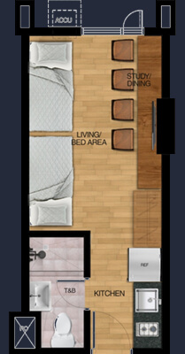 vista plumeria manila student condo 2 bunk bed