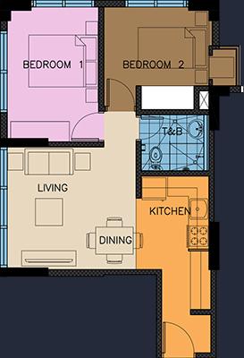 wil tower quezon city condo 2 bedroom unit