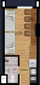 vista heights manila student condo 2 bunk beds 21 sqm