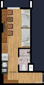 vista heights manila student condo 2 bunk beds 29.59 sqm