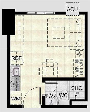 the spectrum condo studio unit B